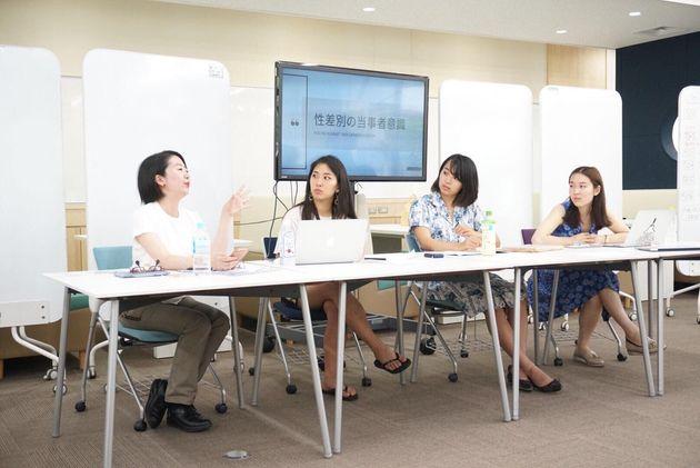 Speak Up Sophiaの横井桃子さん、鈴木七海さん、Voice Up