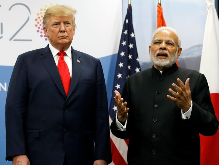 Donald Trump meets Prime Minister Narendra Modi during the G20 leaders summit in Buenos Aires, Argentina, November 30, 2018.