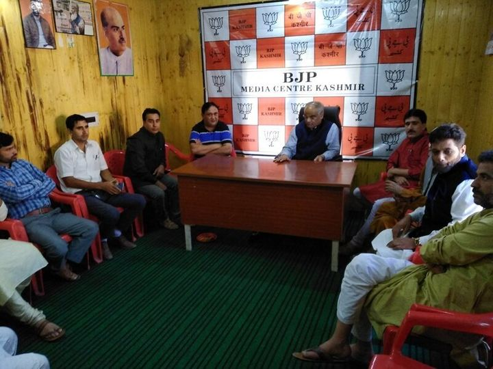 While the leaders and prominent workers of most opposition parties have been detained, the BJP office has been functioning almost like there is no lockdown in the state.
