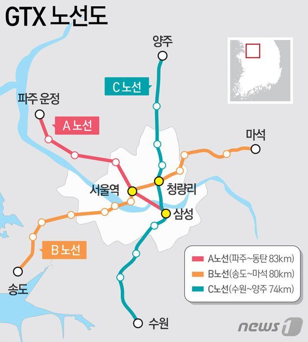 송도~여의도~남양주 잇는 GTX-B 노선이 예비타당성조사를