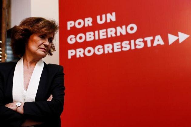 Carmen Calvo, vicepresidenta del Gobierno en funciones, en un acto reciente del