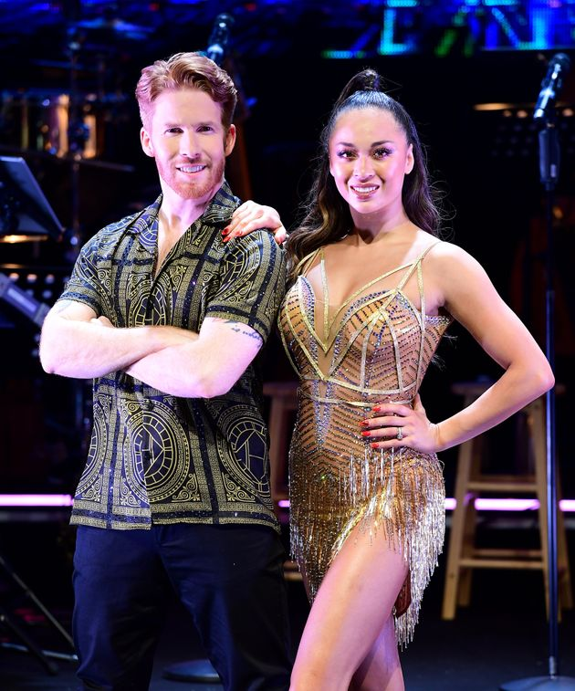 Neil Jones, here with ex-wife Katya, is rumoured to have been promoted this