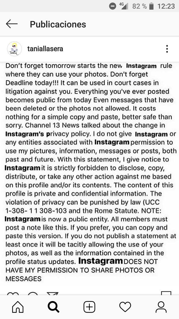 Qué hay de cierto en el cambio de la privacidad de Instagram que están compartiendo los