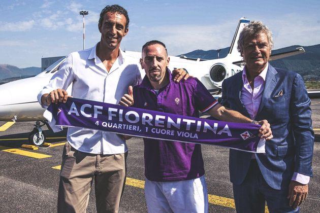 Franck Ribéry arrive en rock-star à la Fiorentina