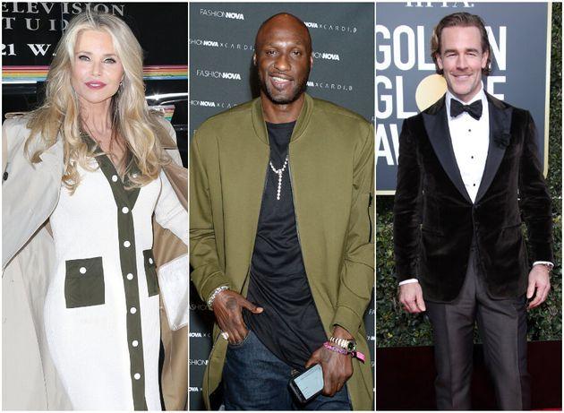 Christie Brinkley, Lamar Odom and James Van Der
