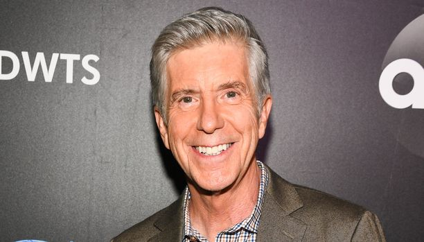 "NEW YORK, NY - AUGUST 21:  Host Tom Bergeron arrives at the 2019 ""Dancing With The Stars"" Cast Reveal at Planet Hollywood Times Square on August 21, 2019 in New York City.  (Photo by Dave Kotinsky/Getty Images for Planet Hollywood International)"