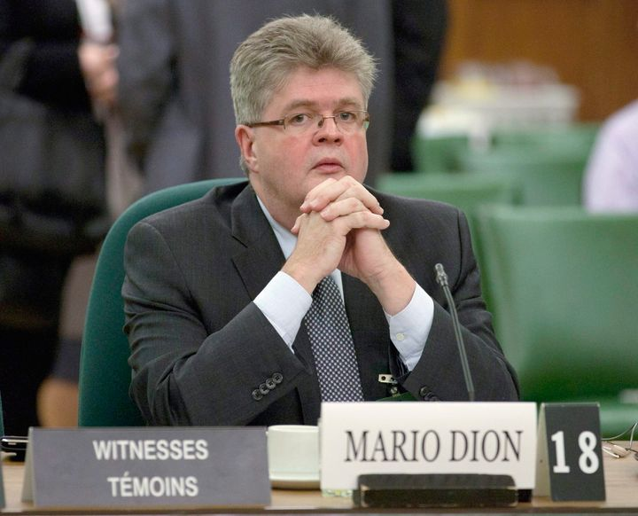 Mario Dion waits to appear before the Commons estimates committee on Parliament Hill in Ottawa on Dec. 13, 2011.