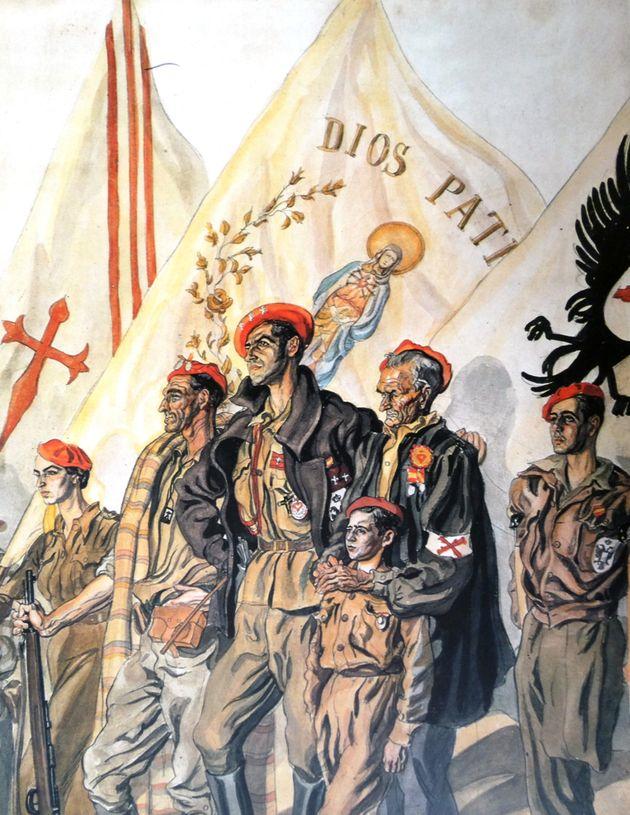 Un cartel de propaganda carlista de la época de la Guerra Civil