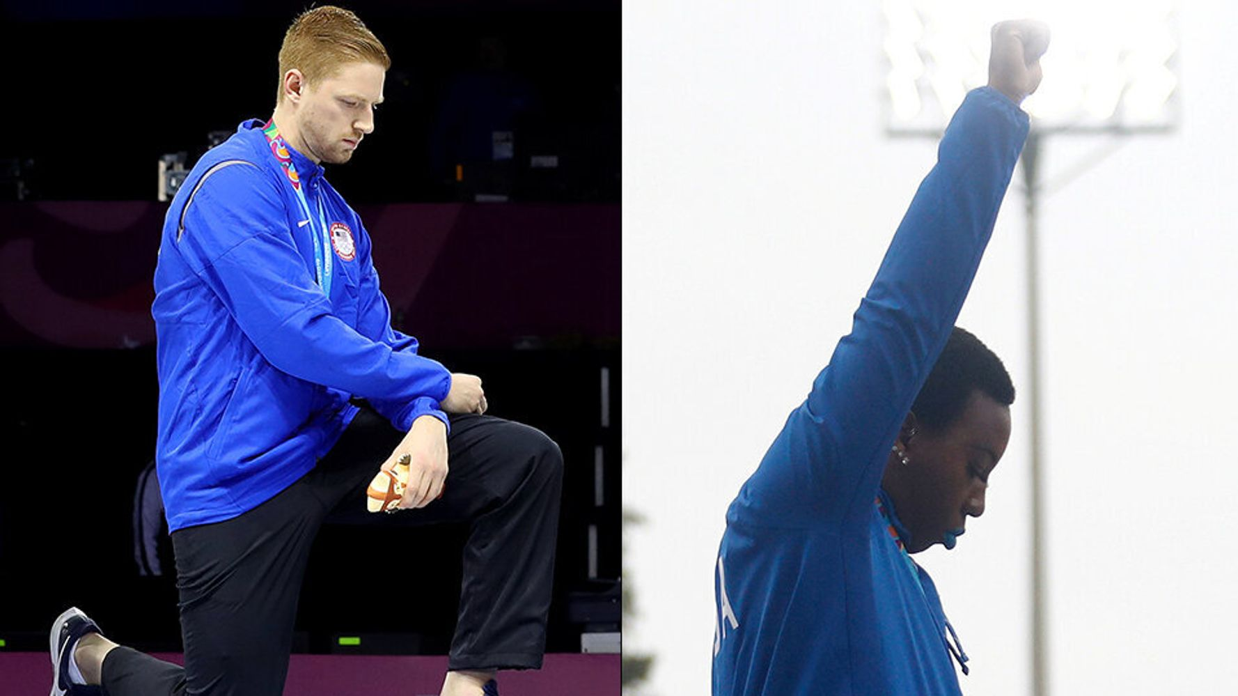 Image result for Race Imboden and Gwen Berry