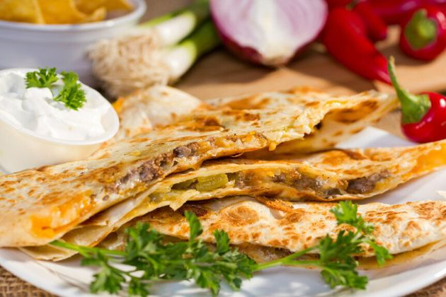 Quesadillas, like this simple one from YummyLunchClub.ca, make a great