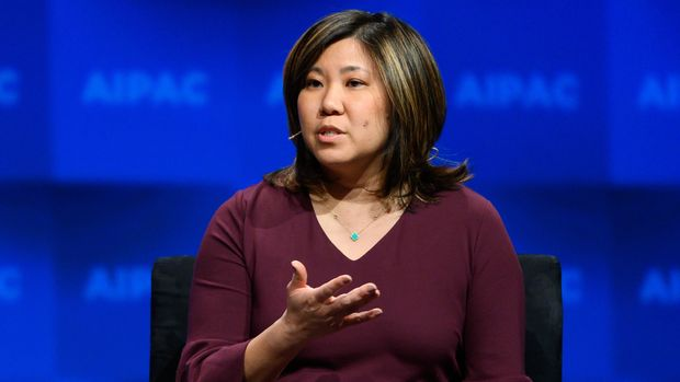 WASHINGTON, DC, UNITED STATES - 2019/03/25: U.S. Representative Grace Meng (D-NY) seen speaking during the American Israel Public Affairs Committee (AIPAC) Policy Conference in Washington, DC. (Photo by Michael Brochstein/SOPA Images/LightRocket via Getty Images)