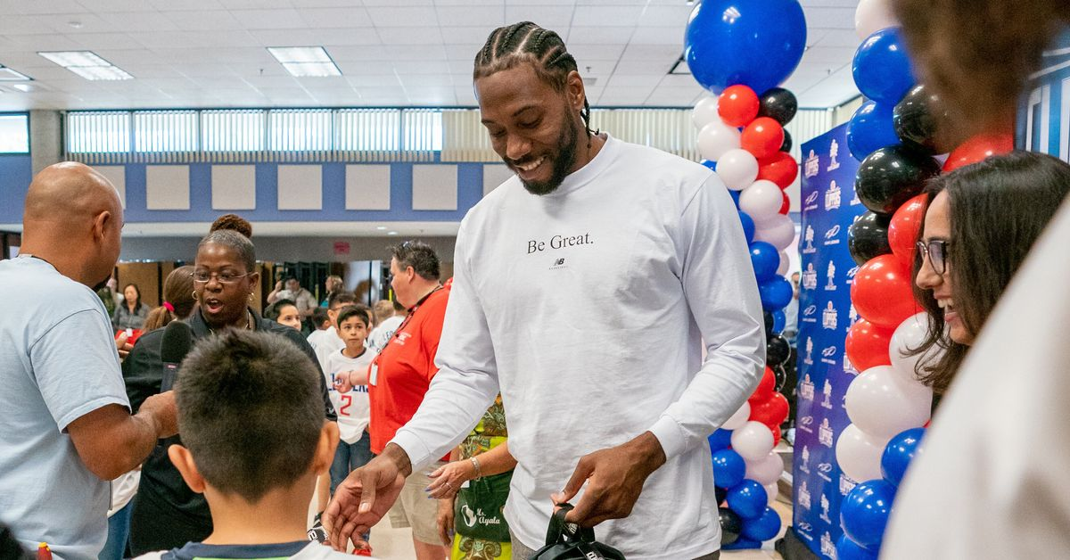 Kawhi Leonard Donates Backpacks To Low-Income Families Across Southern California