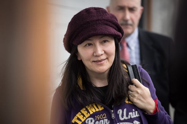 Huawei chief financial officer Meng Wanzhou at her home after a court appearance in Vancouver, on Mar....