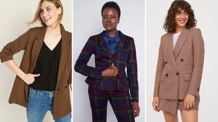 15 Stylish Plaid Blazers For Women You'll Want To Layer Up This Fall