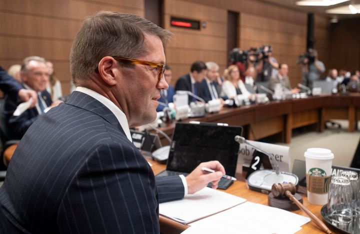 House of Commons on Access to Information, Privacy and Ethics Chair Bob Zimmer waits to begin the committee meeting on Parliament Hill in Ottawa on Aug. 21, 2019.