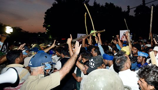 Clashes At Dalit Protest Against Ravidas Temple Demolition, Police Detain Bhim Army