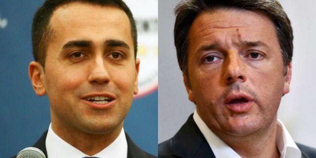 Luigi di Maio y Matteo Renzi, en sendas imágenes de