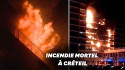 Au moins un mort dans l'important incendie d'un immeuble jouxtant l'hôpital Henri-Mondor de