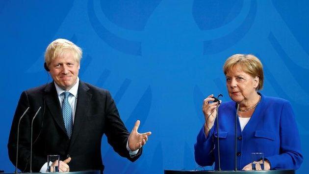 Boris Johnson and Angela