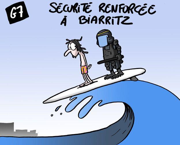 Au G7 Biarritz, sous la plage les pavés!
