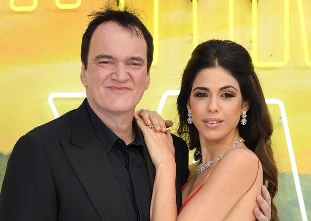 Quentin Tarantino et Daniella Pick, ici le 30 juillet 2019 en Angleterre pour l'avant-première...