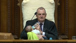 New Zealand Speaker Trevor Mallard Becomes Babysitter During
