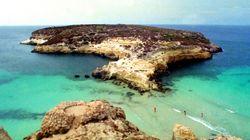 Piccola frana a Lampedusa, vicino a Isola dei Conigli. Ferito il turista che l'ha