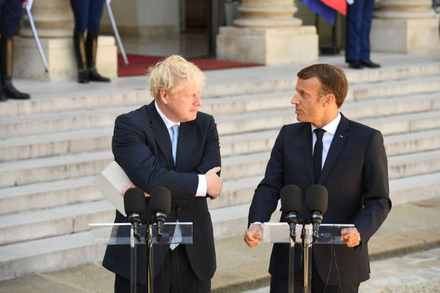 Boris Johnson reçu par Emmanuel Macron à l'Elysée jeudi 22