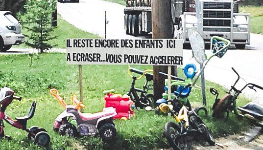 Une affiche-choc pour éviter que des enfants soient
