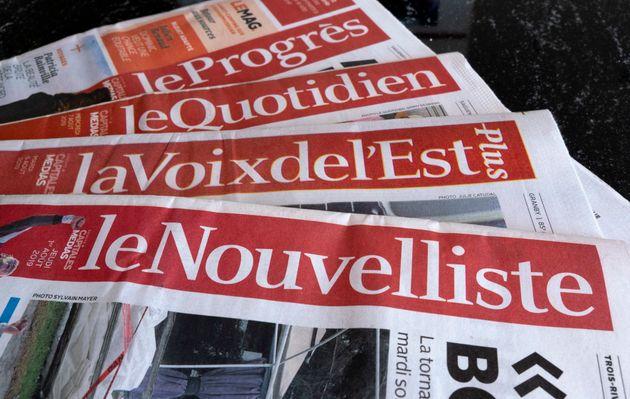 Le Groupe Capitales Médias regroupe six quotidiens régionaux. (Le Soleil, Le Quotidien,...