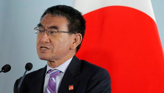 """고노 다로 일본 외무상이 지소미아 종료에 """"깊은 유감""""을"""