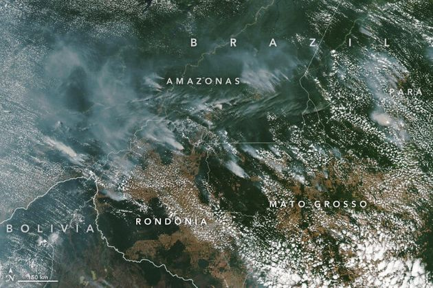 Imagen tomada el 13 de agosto por el Observatorio Terrestre de la