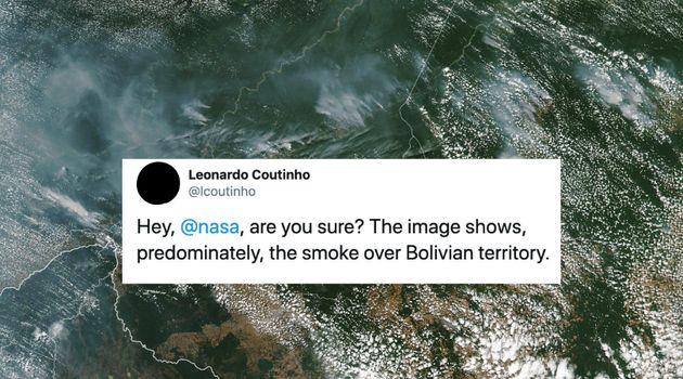 Nasa divulga imagem de incêndios na