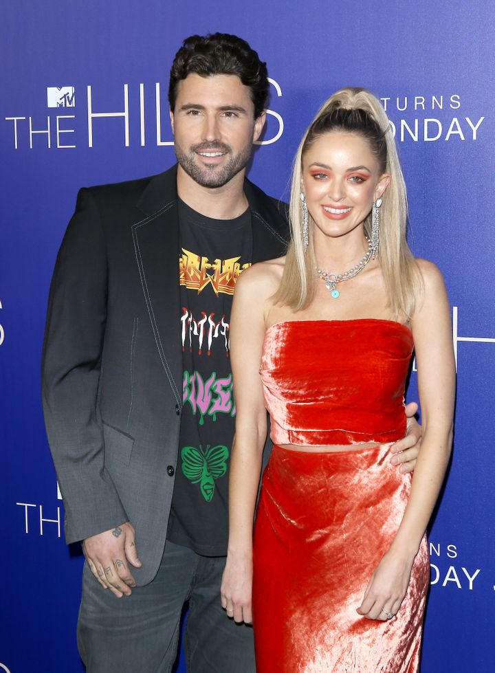 """Kaitlynn Carter Jenner and Brody Jenner attend the Los Angeles premiere of MTV's """"The Hills: New Beginnings"""" in June."""