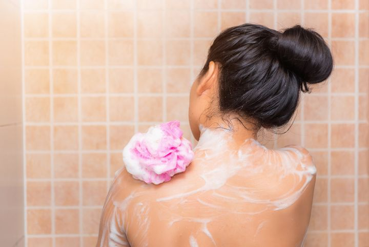 Rinsing will remove 80 per cent of the germs that cause odour ... but that remaining 20 per cent, without soap or cleanser, will probably stick around.