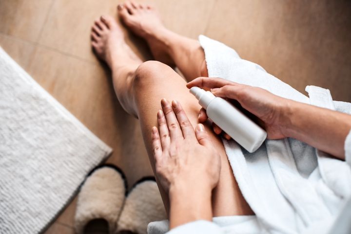 Soap can strip away the skin's protective oils. Dermatologists recommend following a shower by patting the skin dry, then applying a moisturizer.