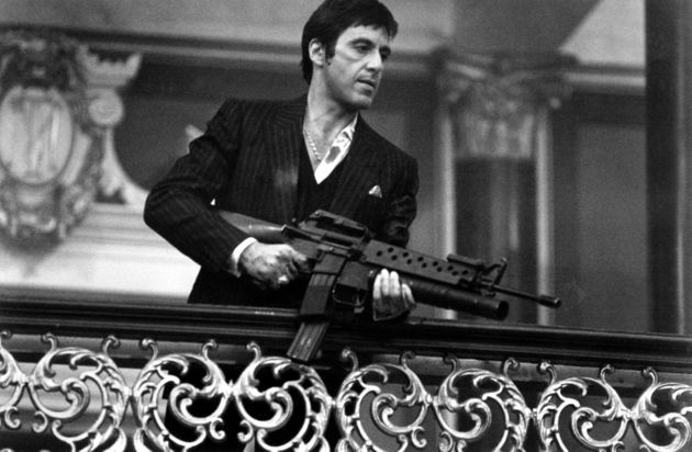 1983: Actor Al Pacino stars in 'Scarface'. Photo by Michael Ochs Archives/Getty