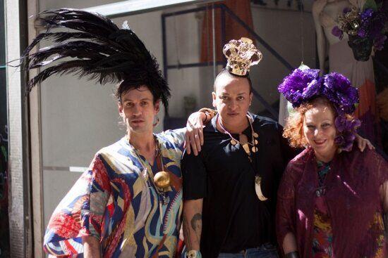 Da esquerda para a direita: Dudu Bertholini,Walério Araújo eMiriam