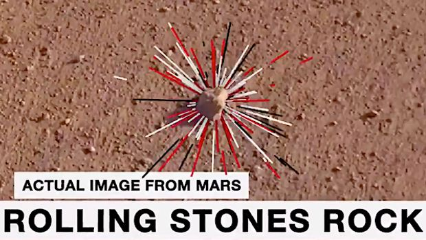 NASA named a little stone for the legendary rockers after its InSight robotic lander captured it rolling across the surface of Mars last year, and the new moniker was made public at Thursday night's Rolling Stones' concert at the Rose Bowl.