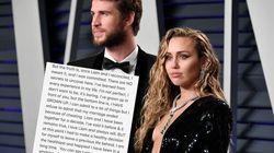 Miley Cyrus règles ses comptes après sa rupture: