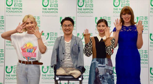 (左から)りゅうちぇるさん、乙武洋匡さん、ラブリさん、IVANさん
