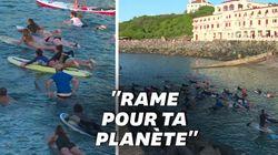 350 surfeurs défendent la mer face aux puissances du