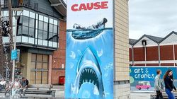 Street Artist Reworks Iconic 'Jaws' Poster In Swipe At Plastic