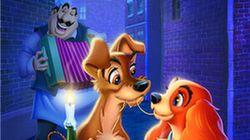 El póster con animales reales del 'remake' de 'La dama y el vagabundo' es clavado al