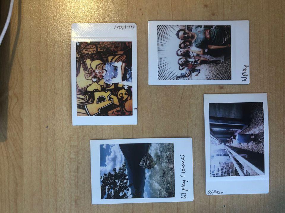 Les photos prises avec l'Instax Liplay, et une imprimée depuis