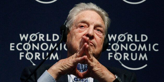 George Soros, au Forum économique de Davos en