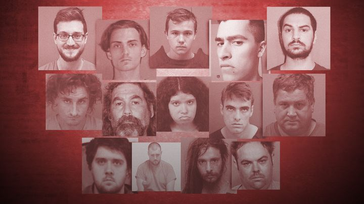 Photos of suspects accused of threatening or plotting mass shootings.