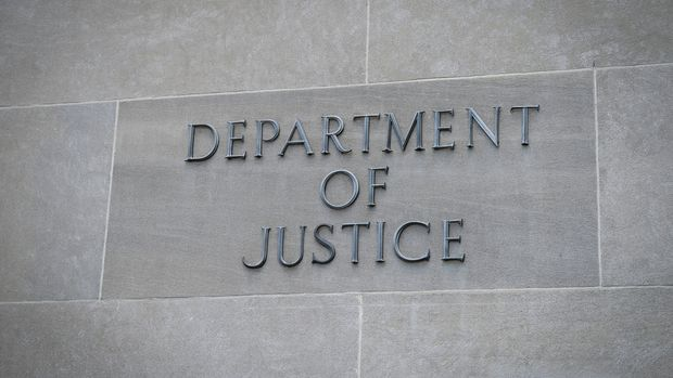 UNITED STATES -  AUGUST 21: The United States Department of Justice is pictured in Washington on Wednesday August 21, 2019. (Photo by Caroline Brehman/CQ-Roll Call, Inc via Getty Images)