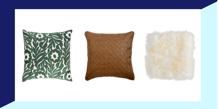 Refresh your space for less with pillow and cushion covers.