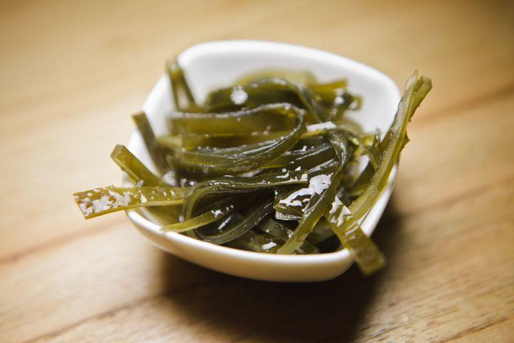 Alga Kombu é rica em umami.